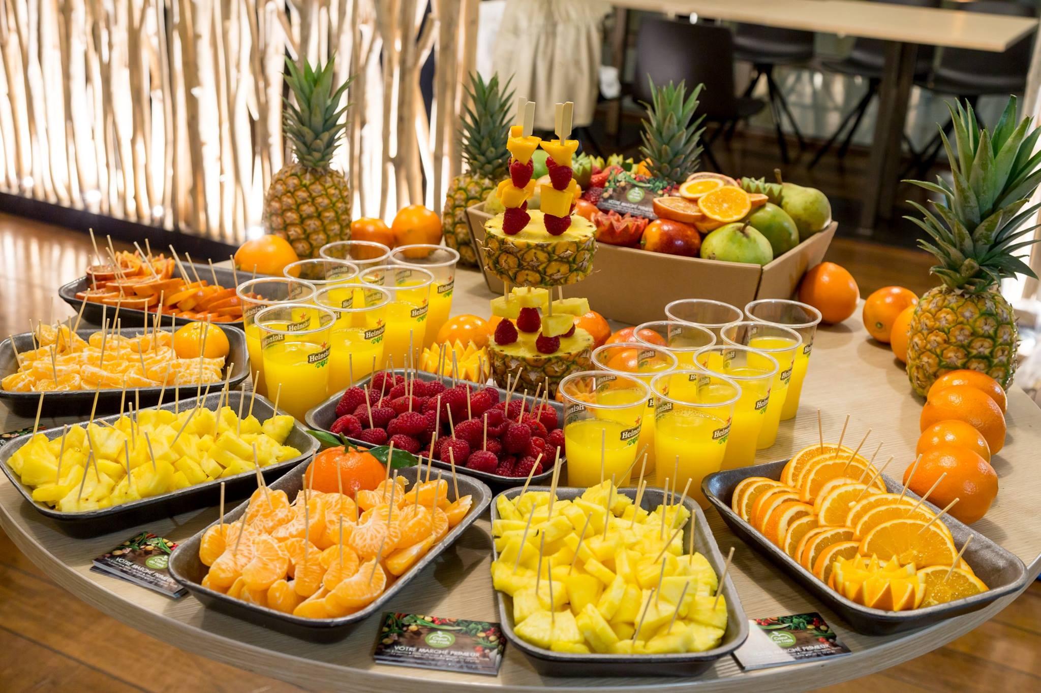 Des fruits superbement présentés