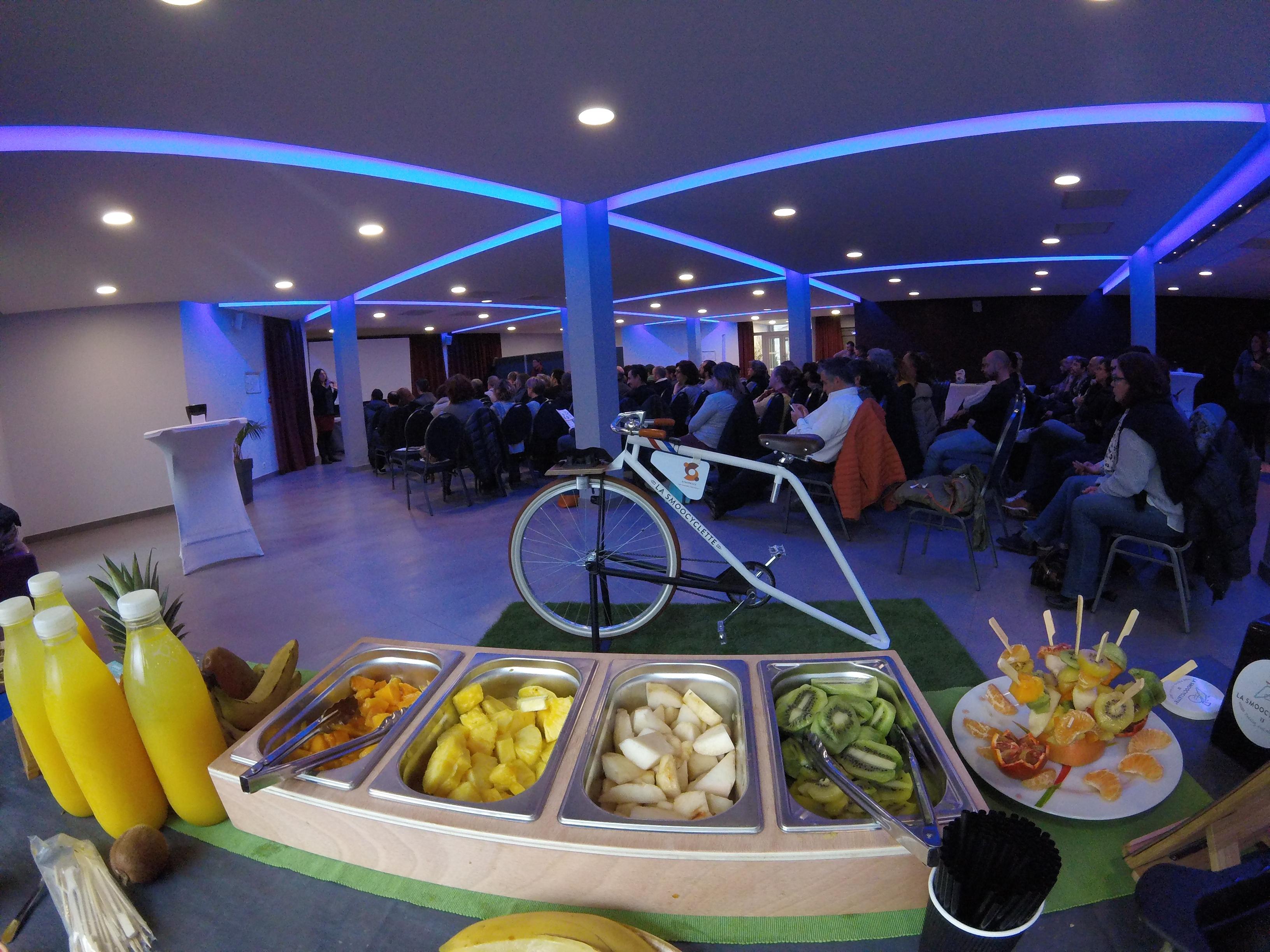 La Smoocyclette à la conférence de rentrée Synergies