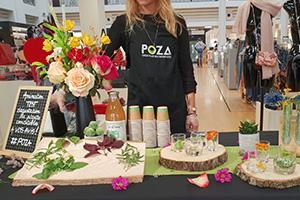 Les fleurs et plantes comestibles aux Galeries Lafayette.